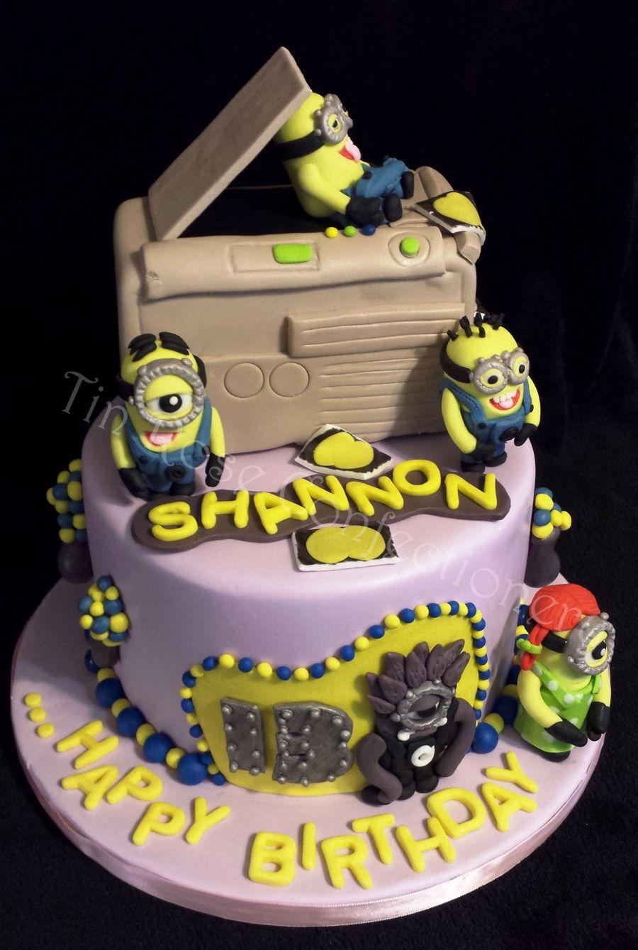 Tall Minion Cake