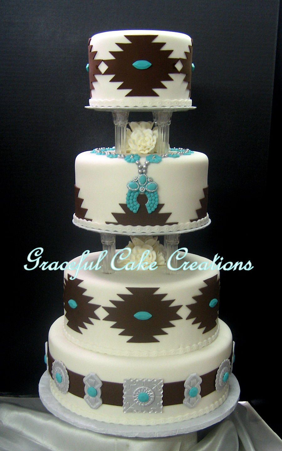 Elegant Navajo Wedding Cake Cakecentral Com