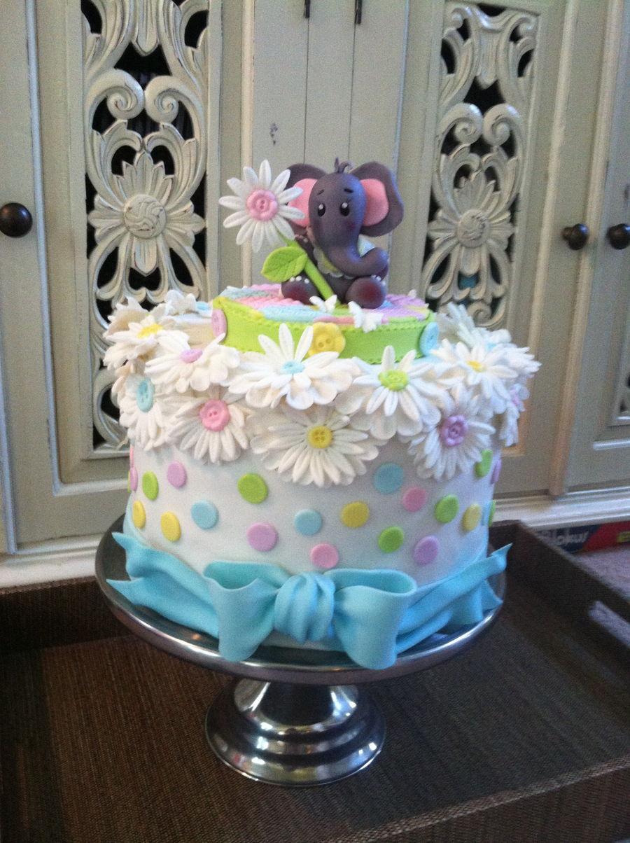Elephant Baby Cake - CakeCentral.com