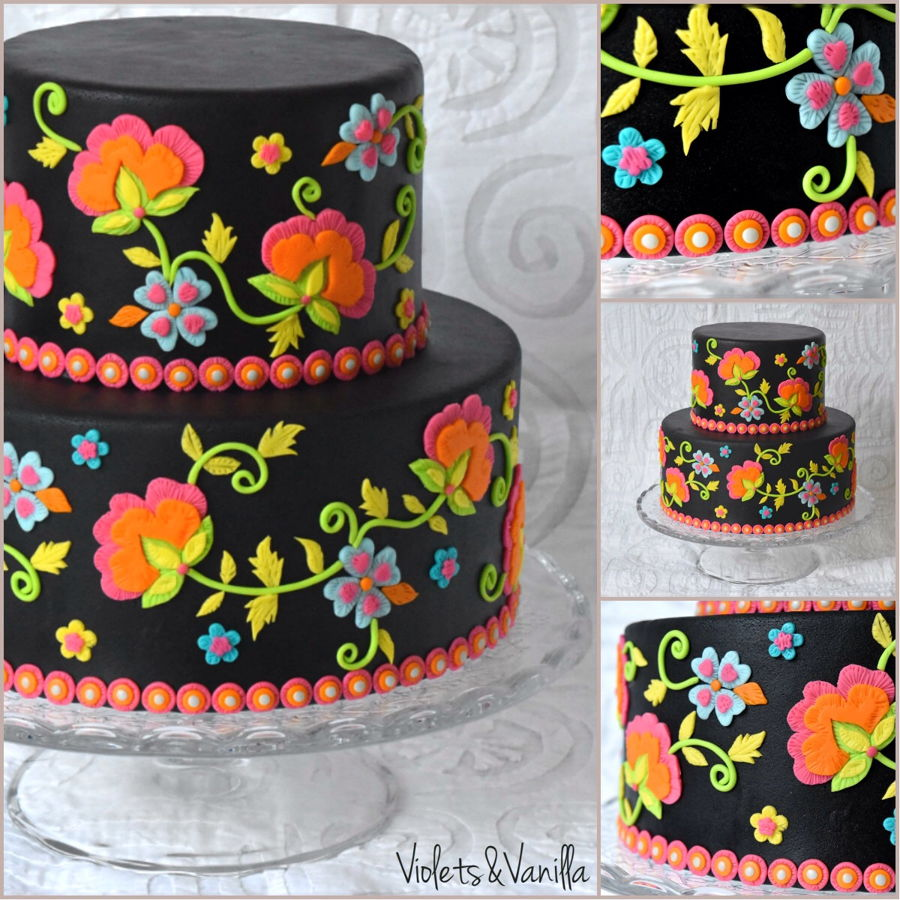 Embroidery Themed Cake on Cake Central