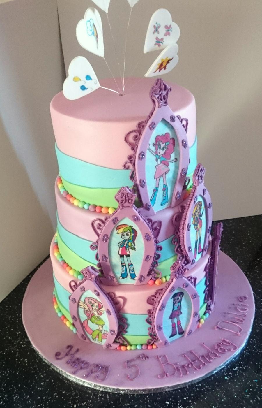 Equestria Girls Birthday Cake