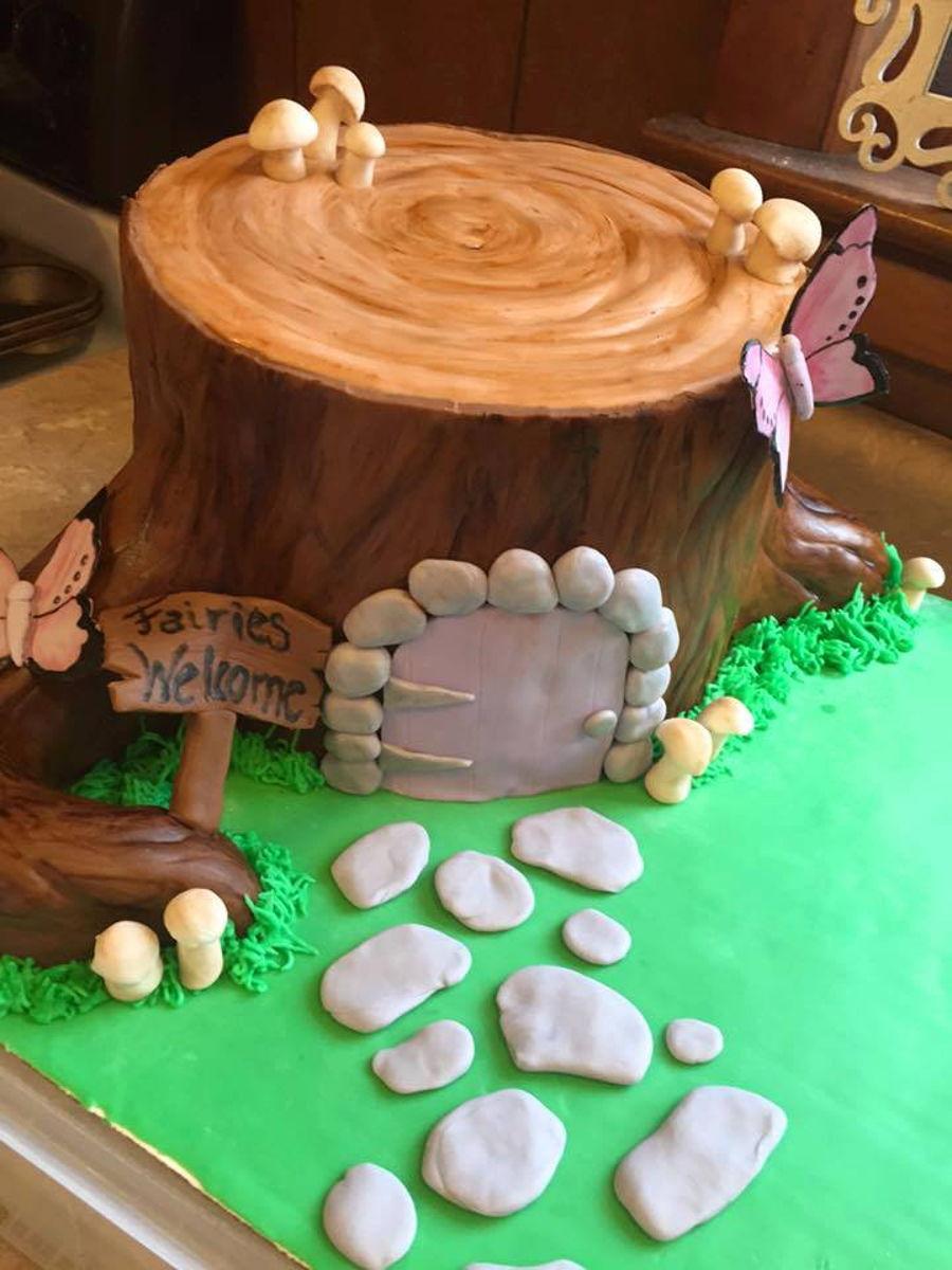 Dog On A Fairy House Cake