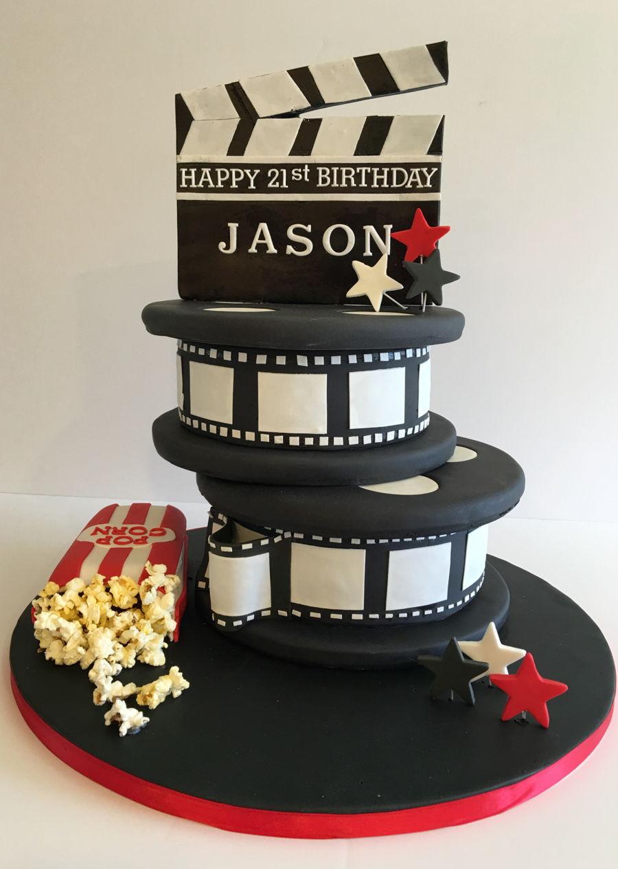 Movie Film Reel Cake