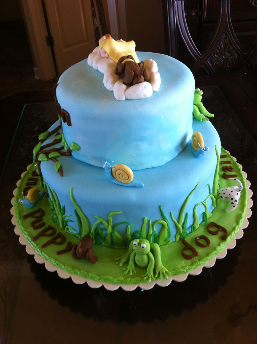 Frogs And Snails And Puppy Dog Tails Cake