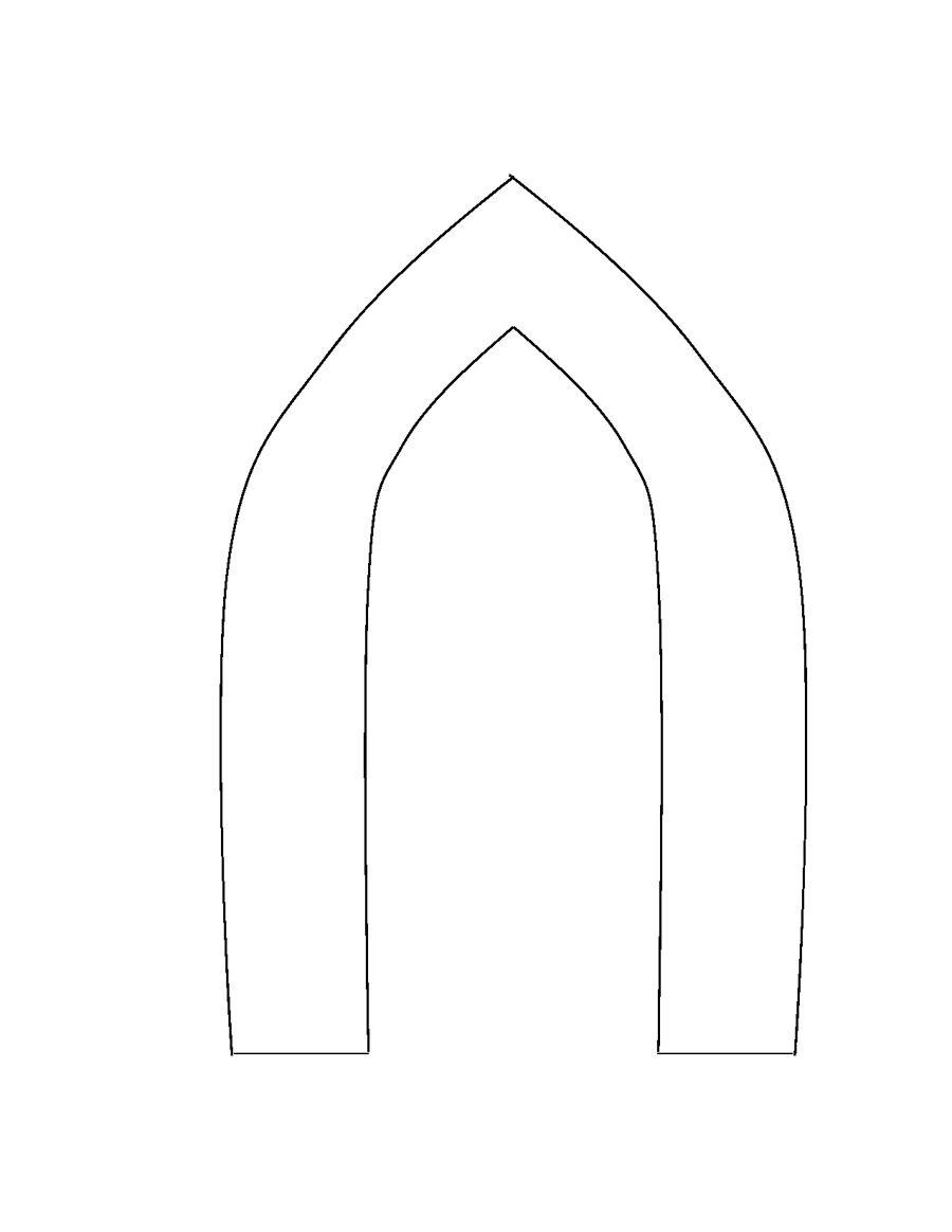 Frozen castle template for Castle cut out template