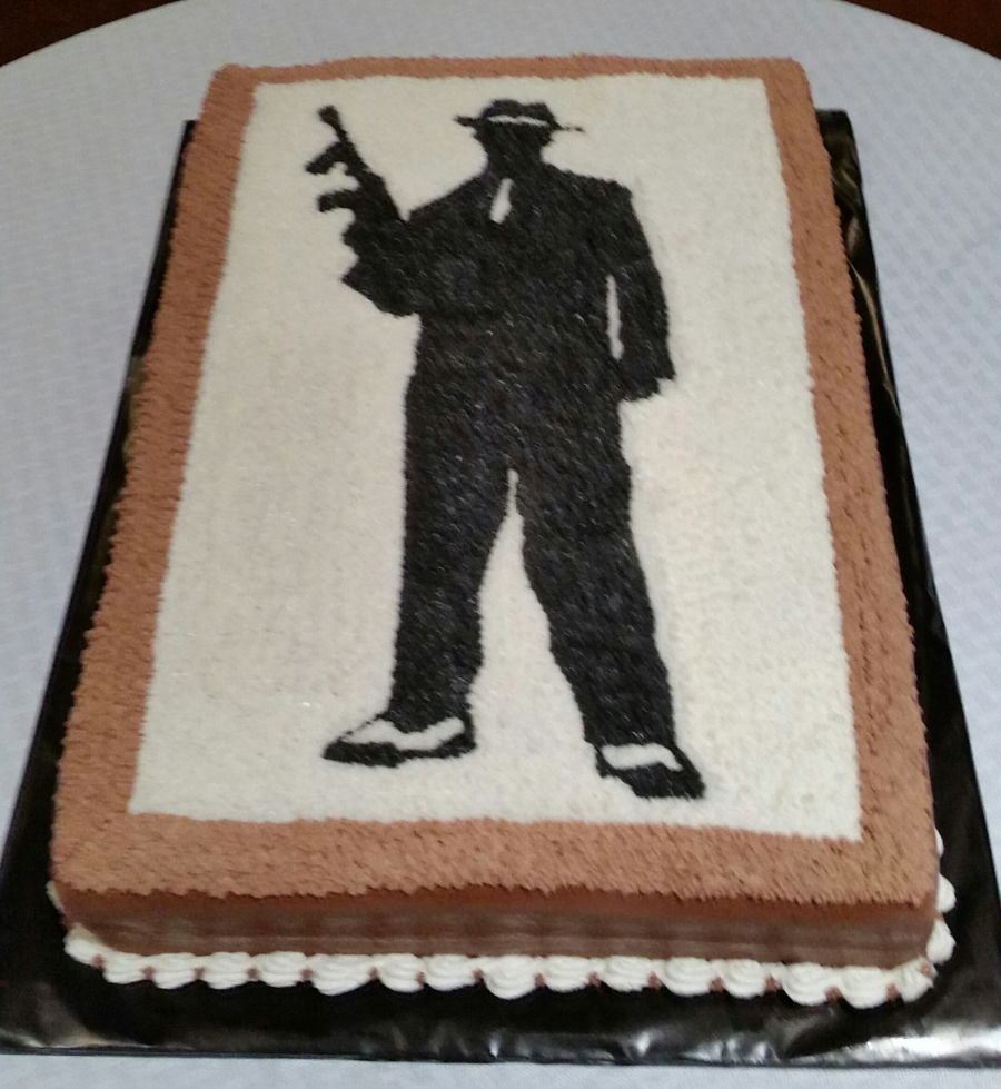 Gangster Themed Cake Cakecentral Com