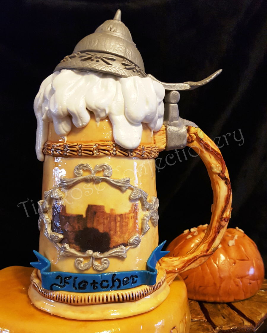 German Beer Stein Birthday Cake Cakecentral Com