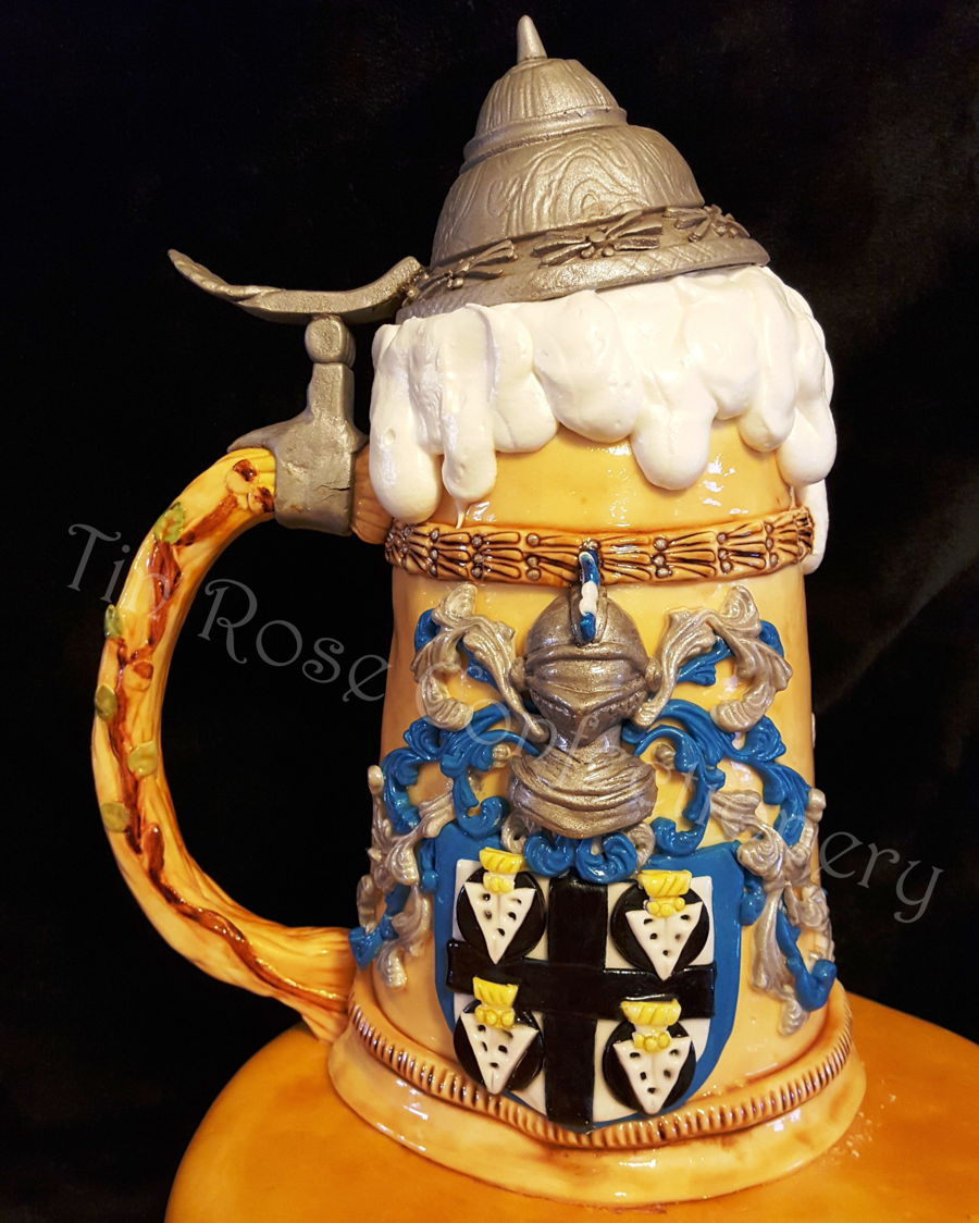 German Beer Stein Birthday Cake