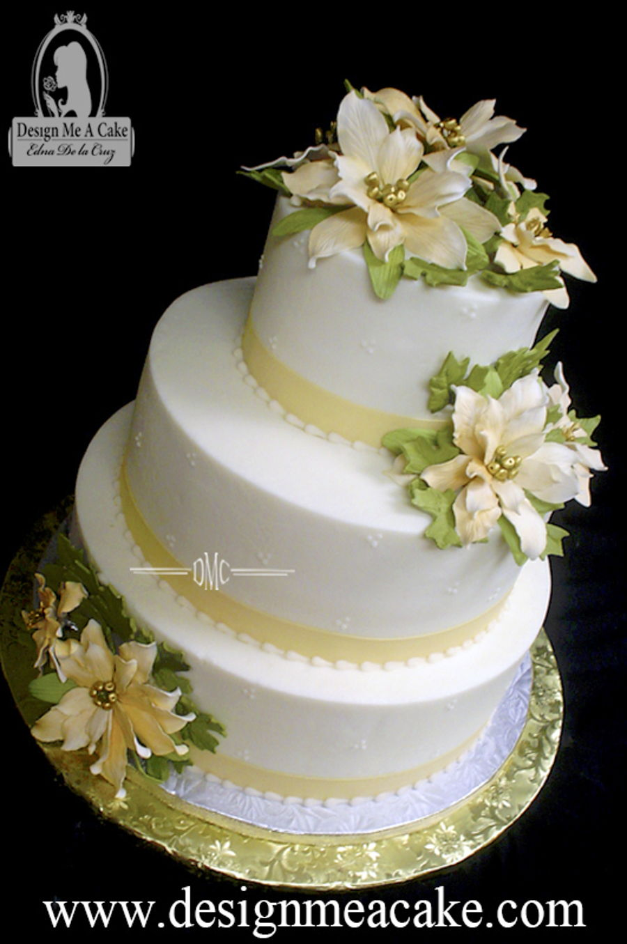 Gold And Ivory Christmas Wedding on Cake Central