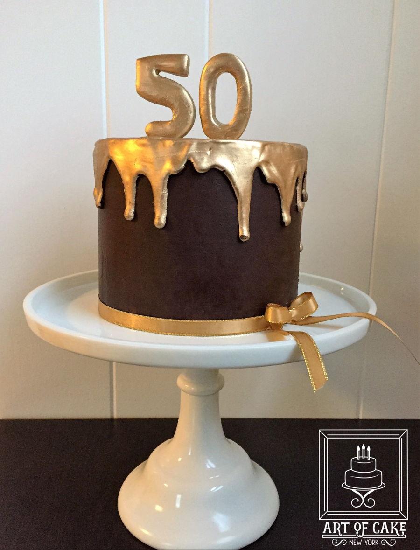 Gold Ganache Drip Cake Cakecentral Com