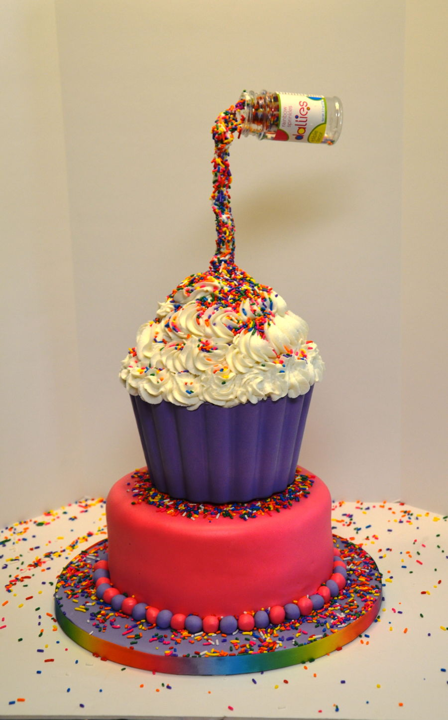 Gravity Defying Birthday Cake With Sprinkles Cakecentral Com