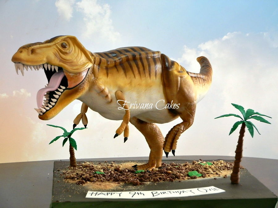 Gravity Defying Dinosaur TRex Cake CakeCentralcom
