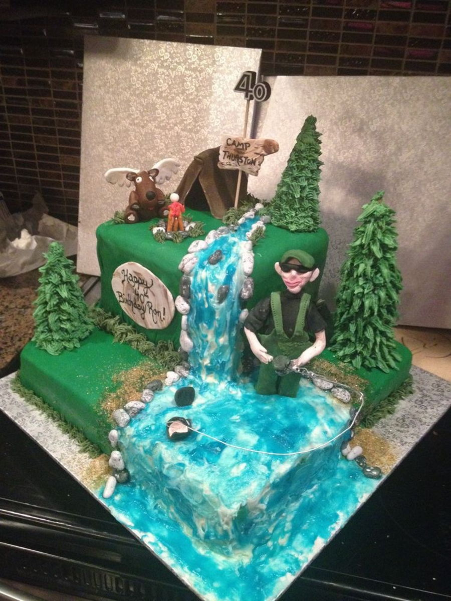 Hunting Amp Fishing Theme Cake Cakecentral Com