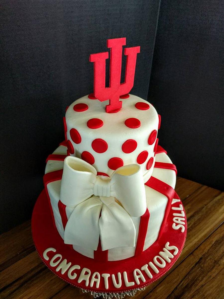 College Graduation Cake Images : Iu College Graduation Cake - CakeCentral.com