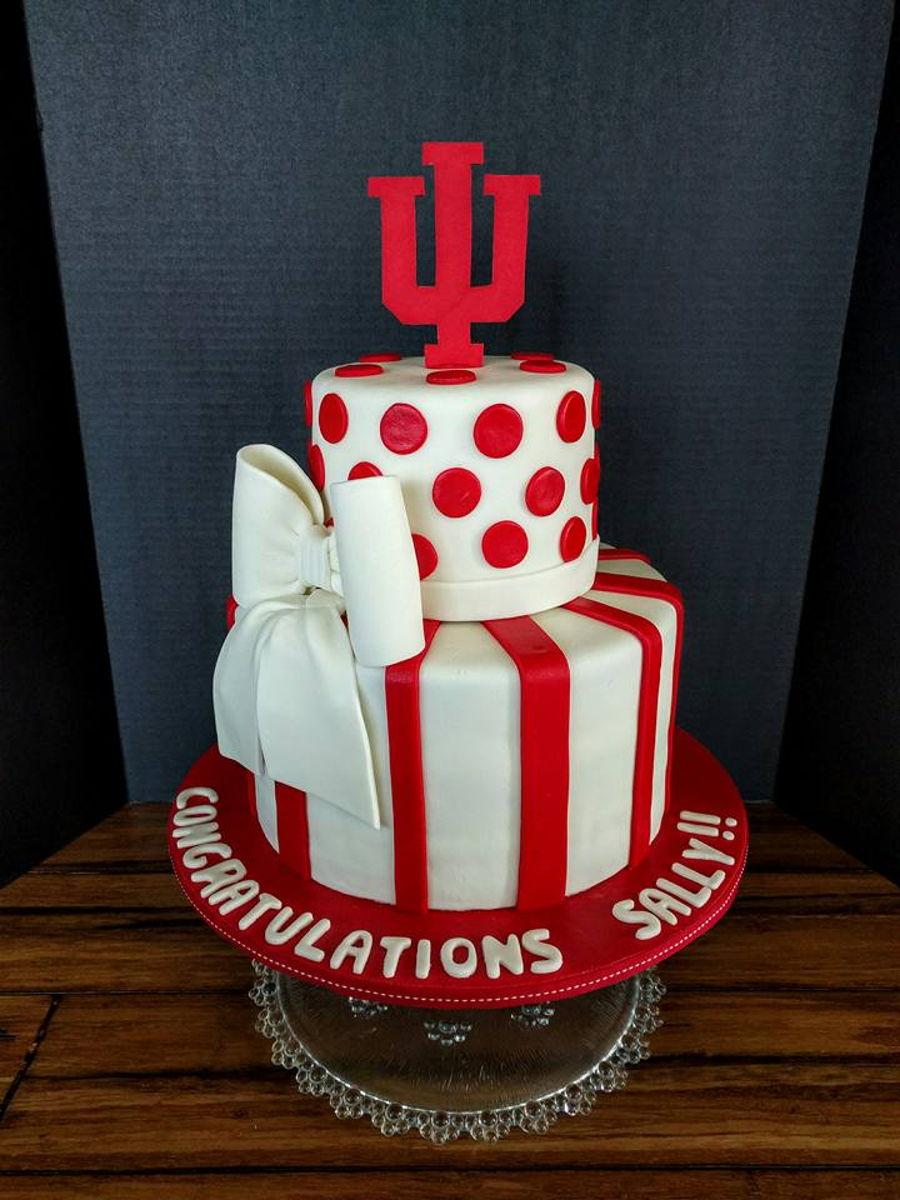 Iu College Graduation Cake Cakecentral Com