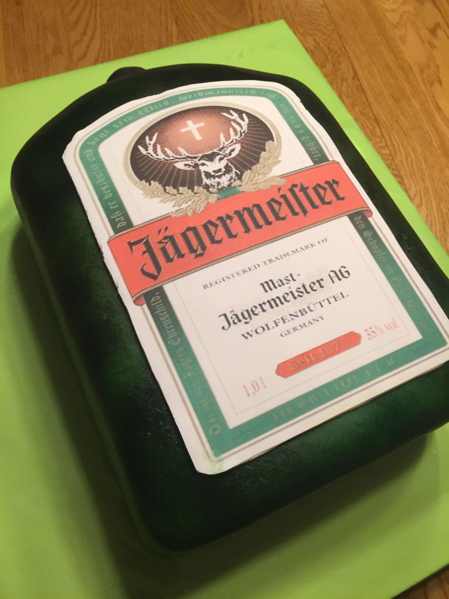 Jagermeister Cake Label