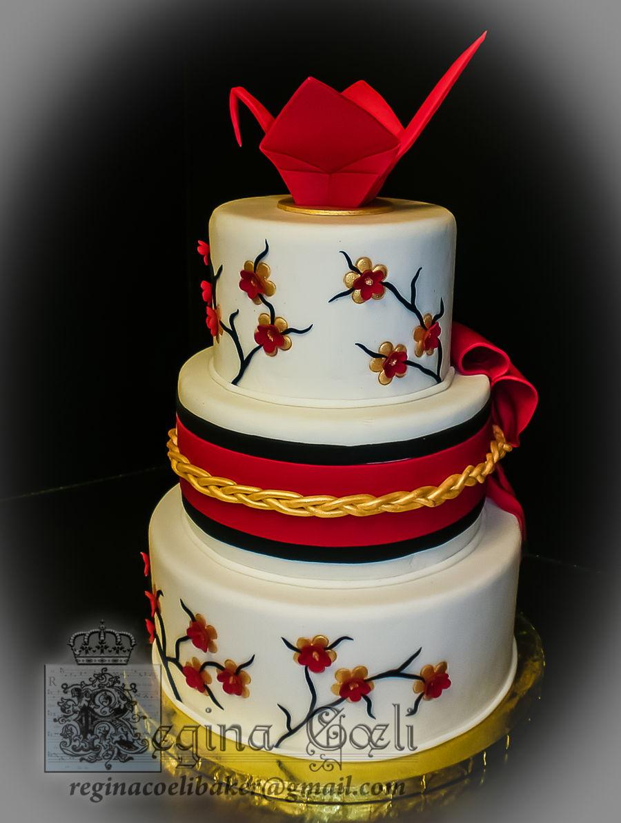 Origami Crane Wedding Cake Topper