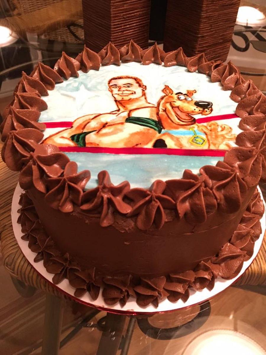 Fabulous John Cena Scooby Doo Cake Cakecentral Com Personalised Birthday Cards Veneteletsinfo