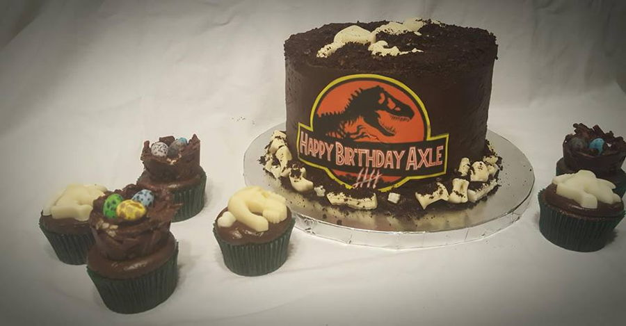 Jurassic Fossil Dig Cake on Cake Central