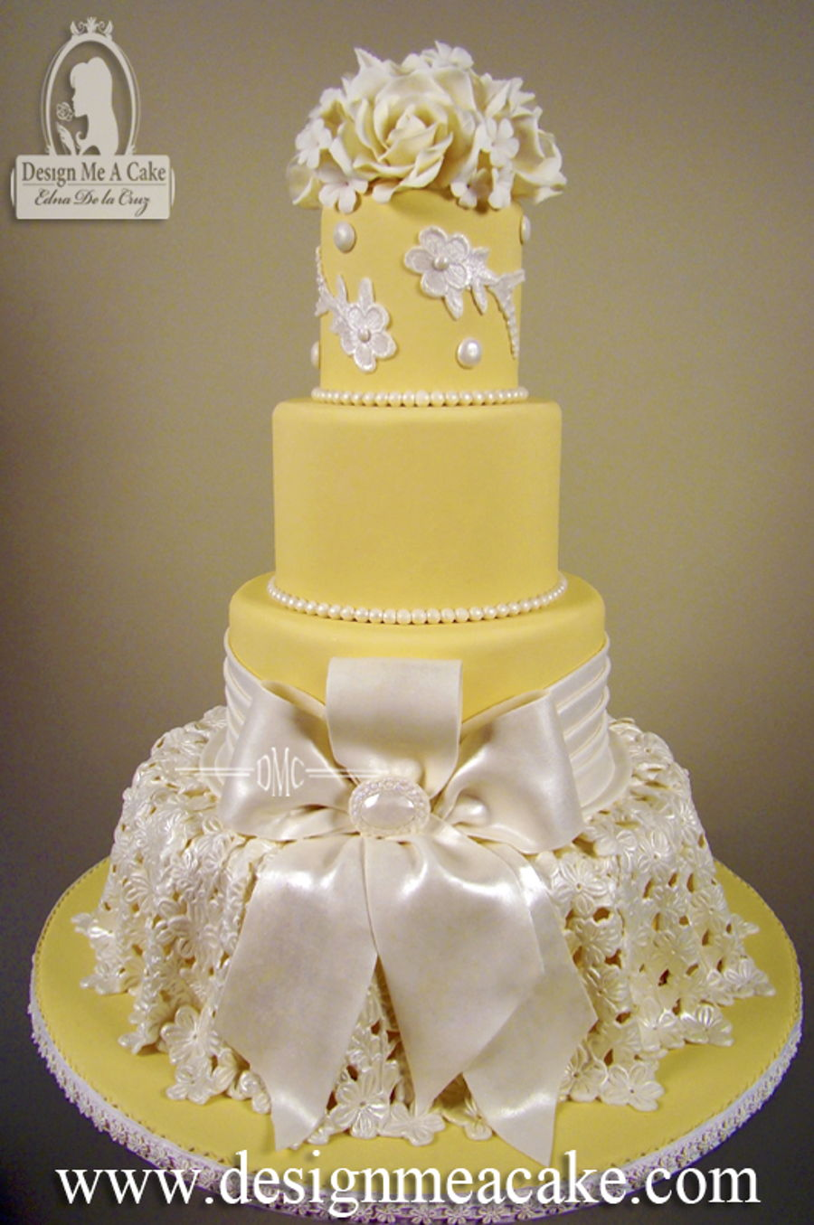 Lace And Bows - CakeCentral.com