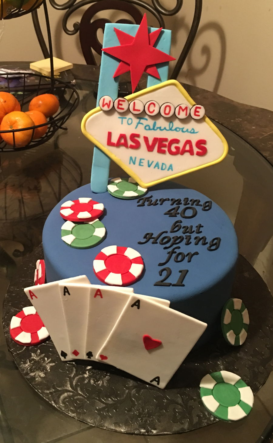 Las Vegas 40Th Birthday Cake CakeCentralcom