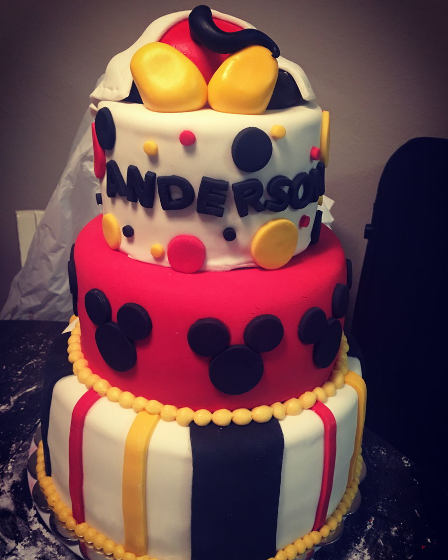 classic mickey mouse colors for a sweet baby boy shower