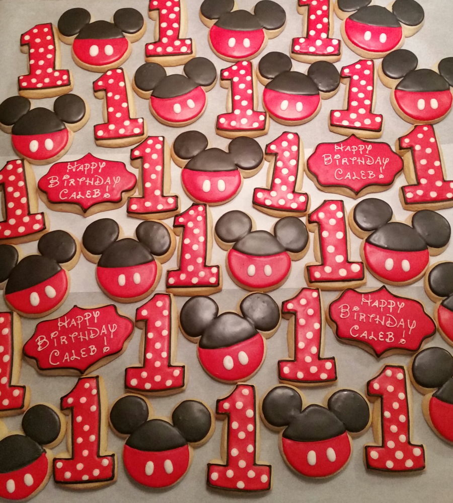 Mickey Mouse Themed Birthday Party Cake