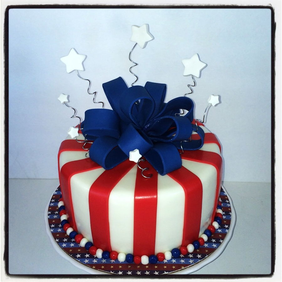 Enjoyable Patriotic Red White Blue Cake Cakecentral Com Funny Birthday Cards Online Alyptdamsfinfo