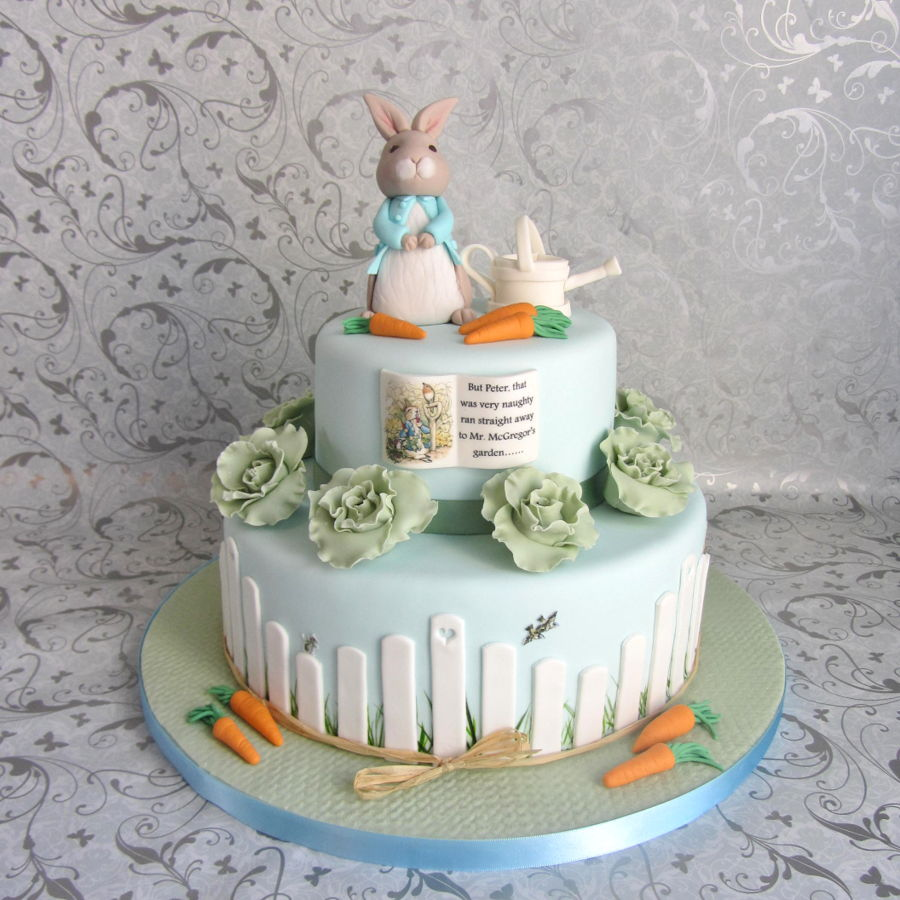 How To Get Cake Decorating Experience : Peter Rabbit Baby Shower - CakeCentral.com