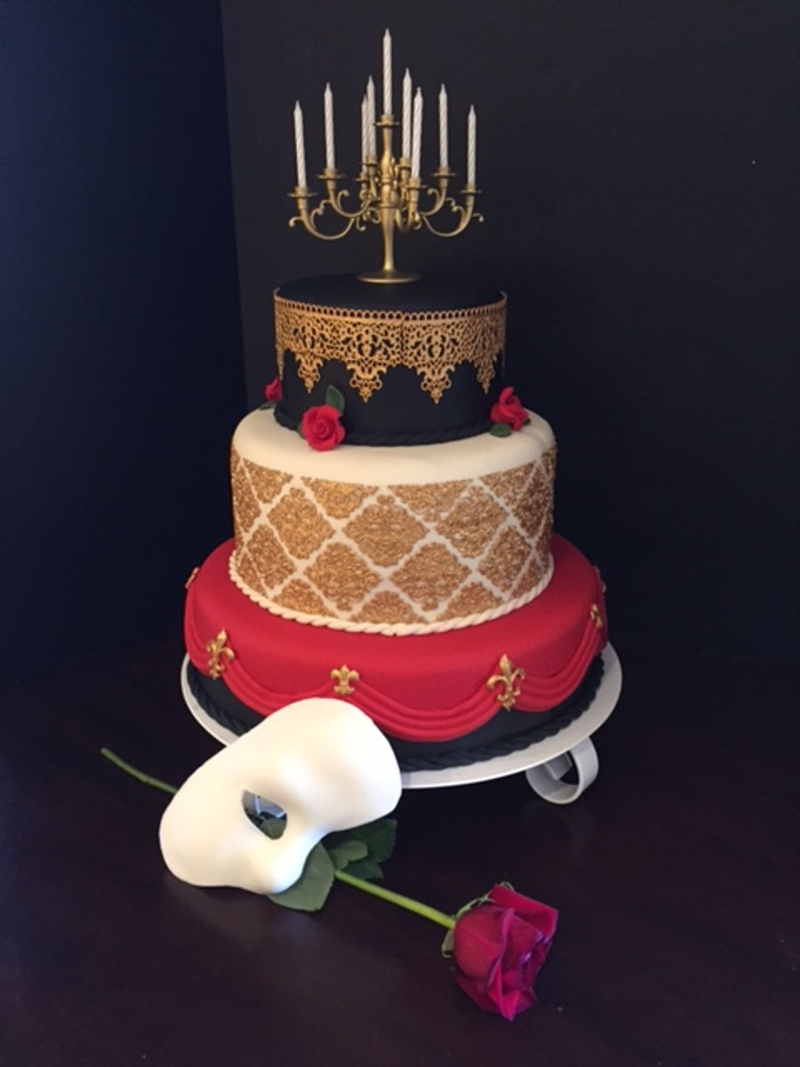 Opera Cake Decor : Phantom Of The Opera Inspired Cake - CakeCentral.com