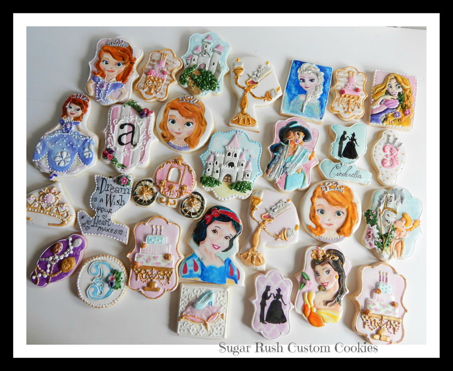 Princess Themed Royal Icing Cookies on Cake Central