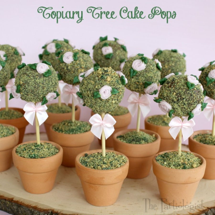 Rose Topiary Tree Cake Pops! on Cake Central