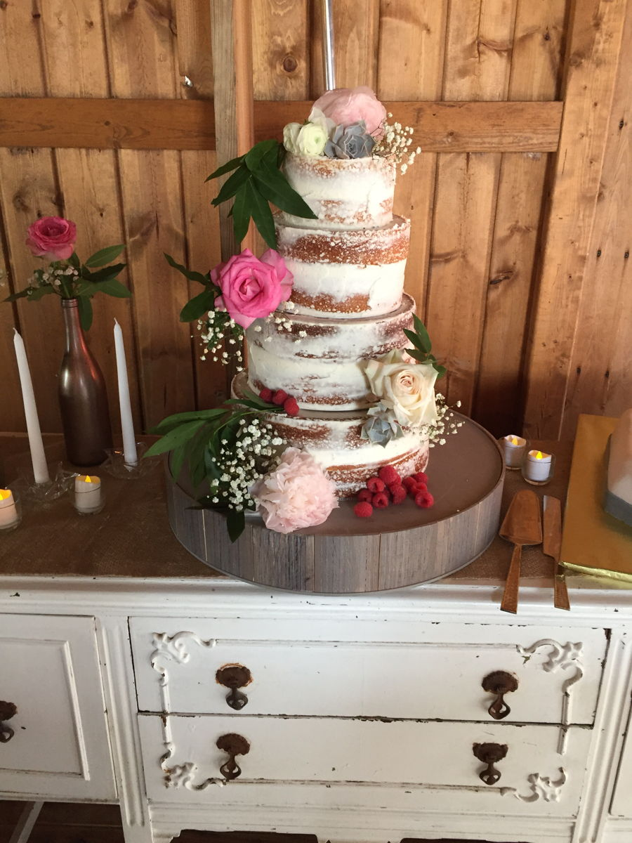 Shabby Chic Floral Wedding Cake On Cake Central