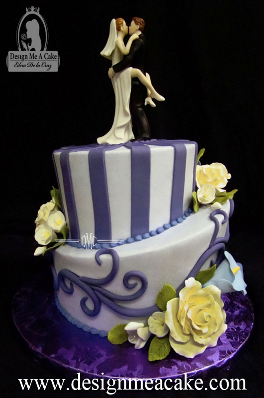 Shades Of Purple.  on Cake Central