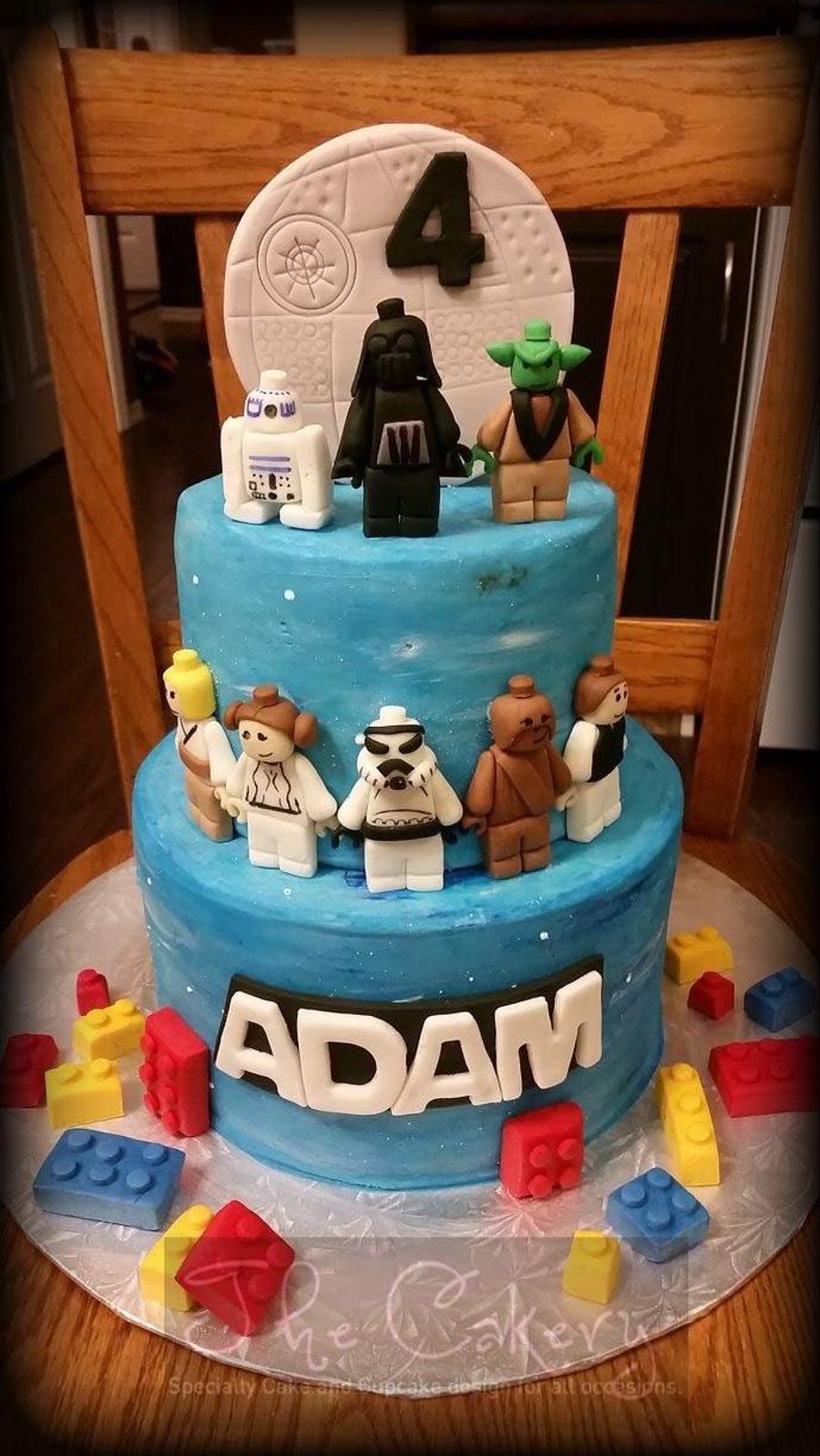 Star Wars Lego Decorations Star Wars Lego Cakecentralcom