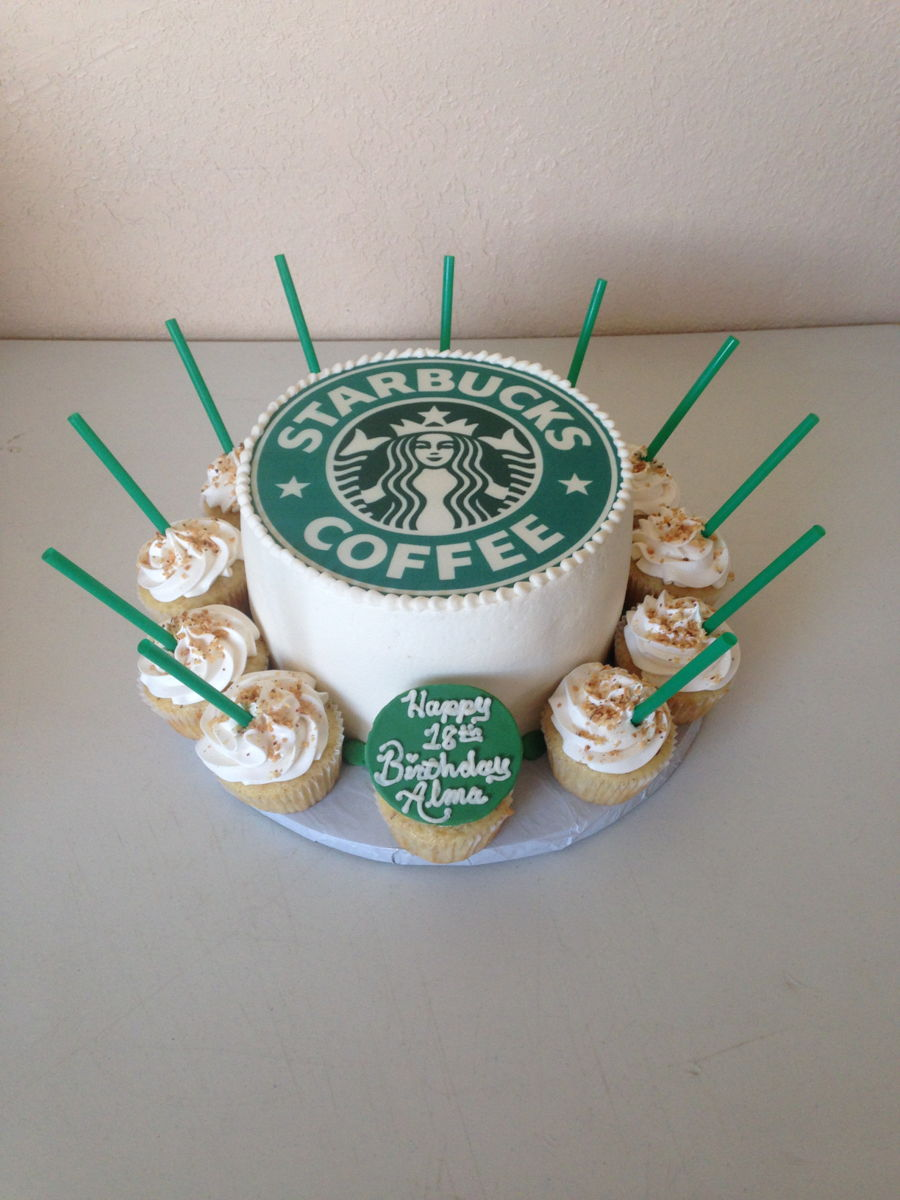 Happy Birthday Starbucks Cake Image