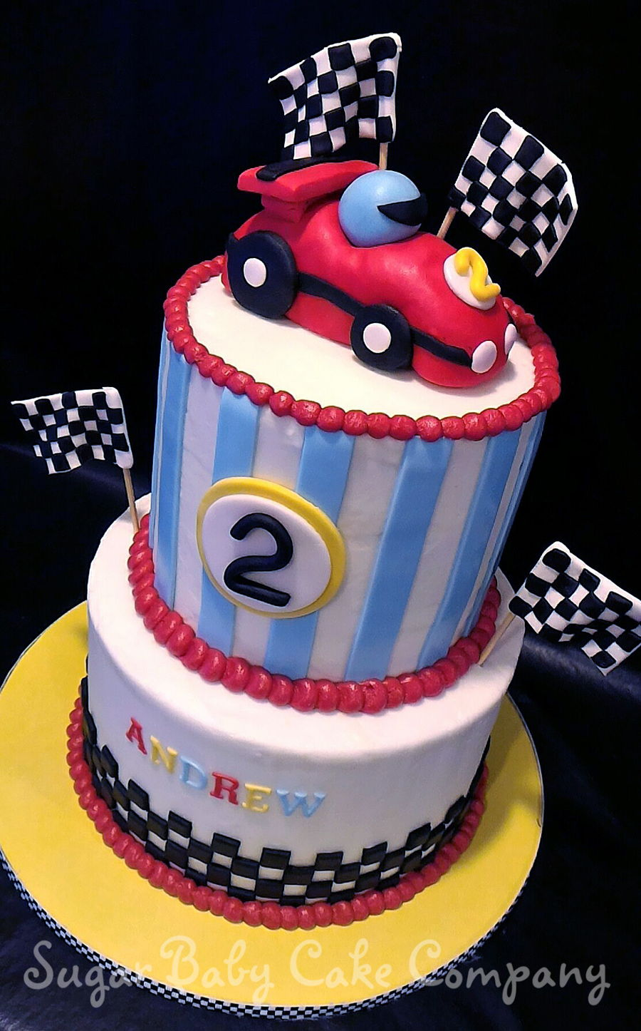start Your Engines Race Car Cake CakeCentralcom