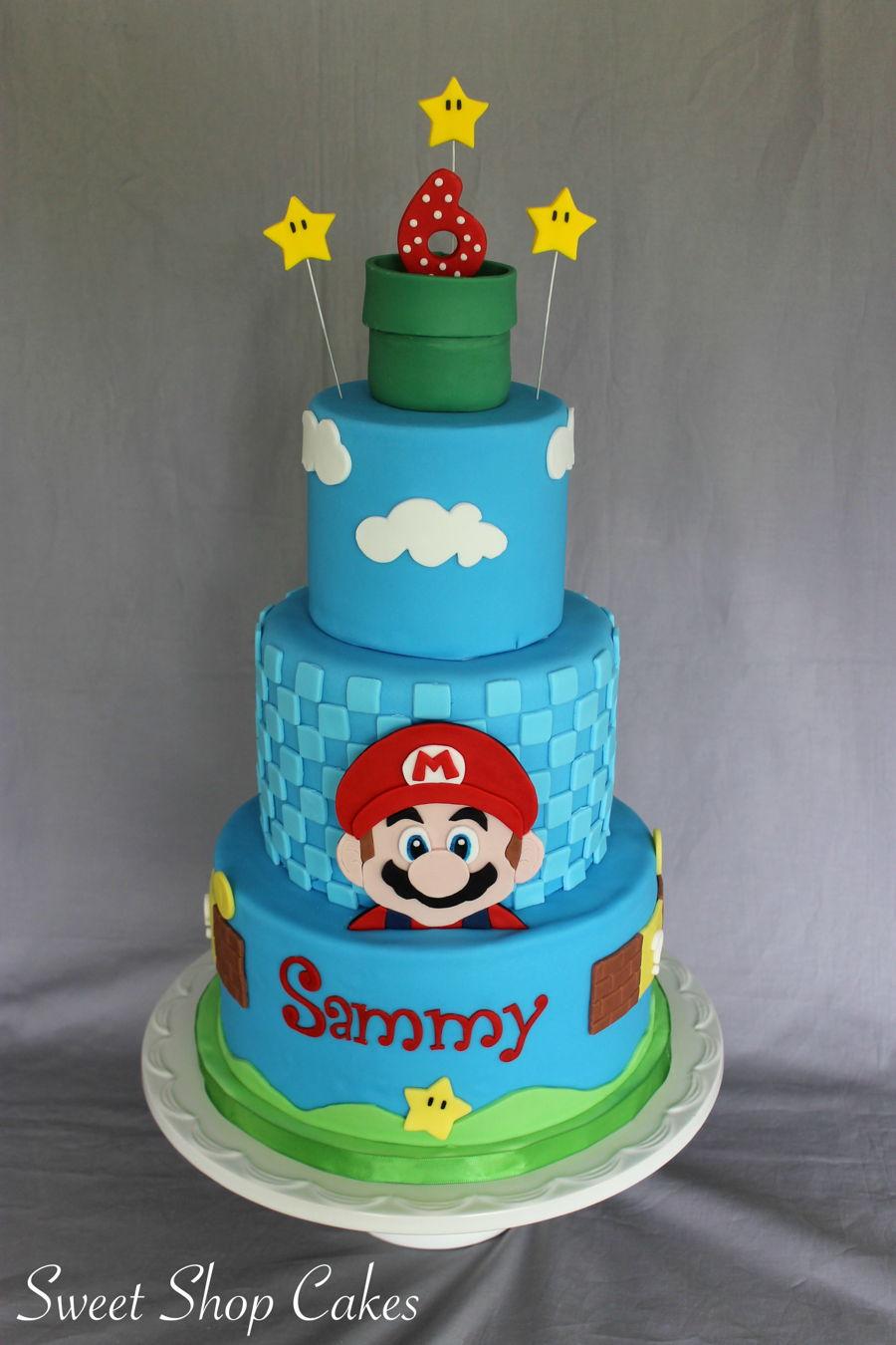 Super Mario Birthday Cake Cakecentral Com