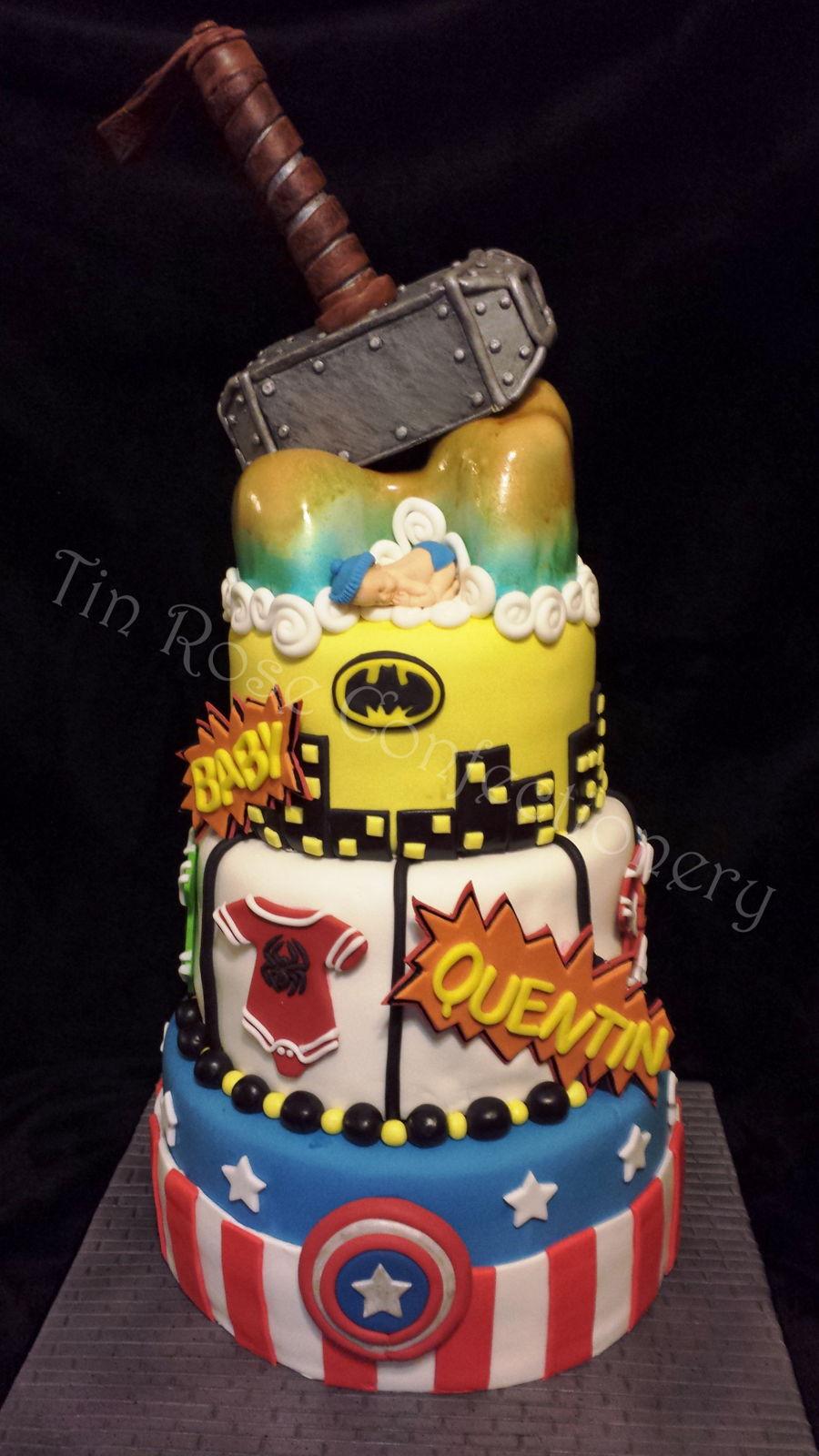 superhero baby shower cake the hippest pics