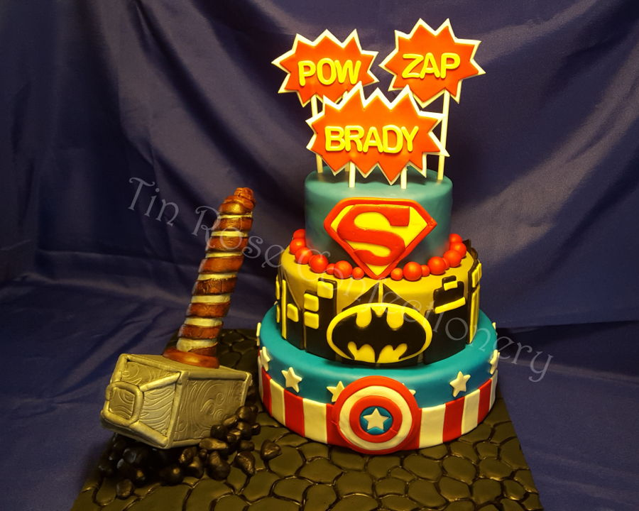 This Seems To Be A Very Popular Cake. I Believe This Is The Third One That  I Have Made And It Still Turned Out Beautifully. Thereu0027s Captain America,  Batman, ...