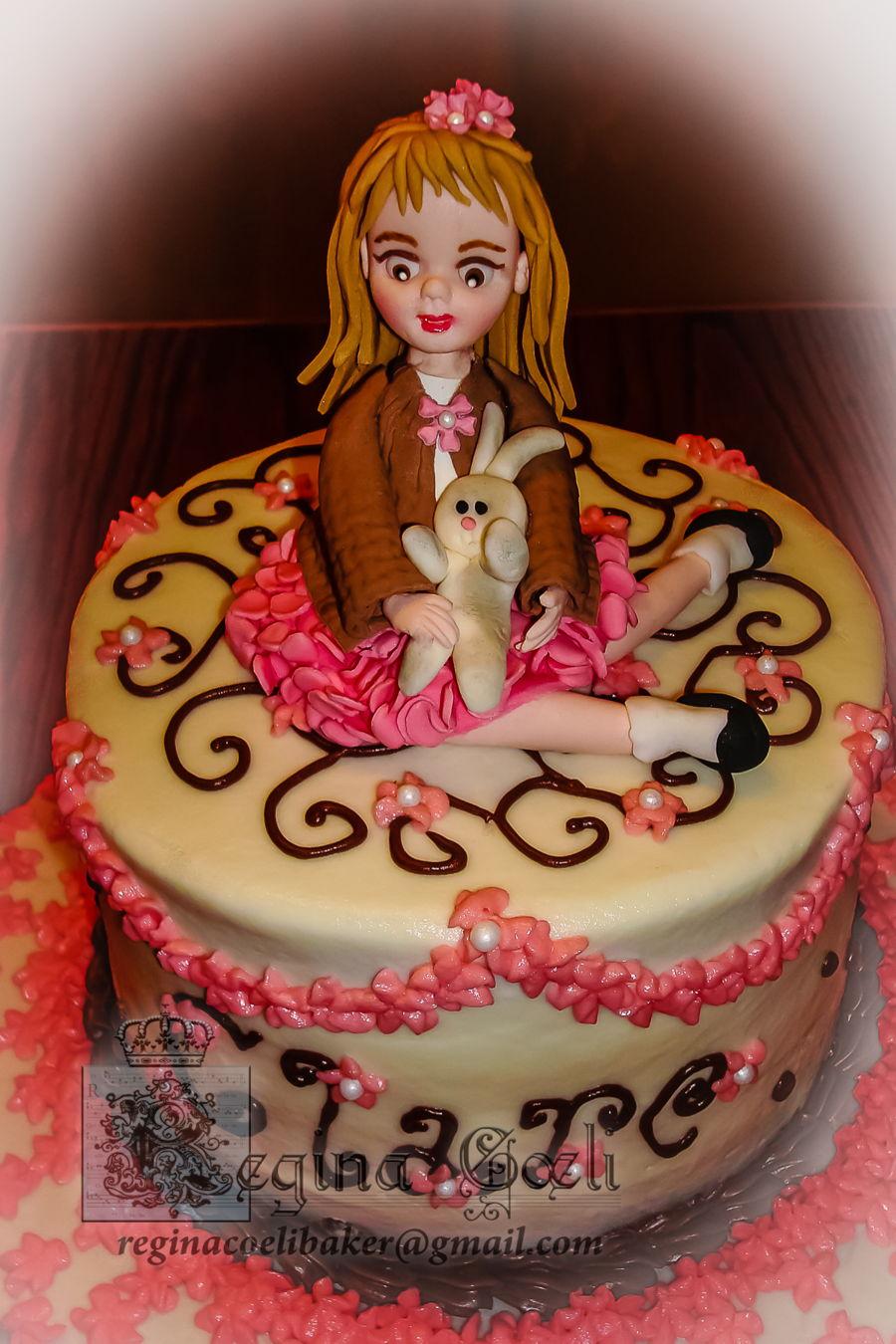 Phenomenal Sweet Girly Birthday Cake Cakecentral Com Personalised Birthday Cards Veneteletsinfo