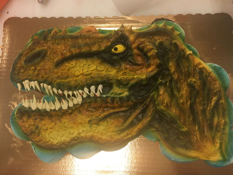 How Do You Make A D Dinosaur Cake