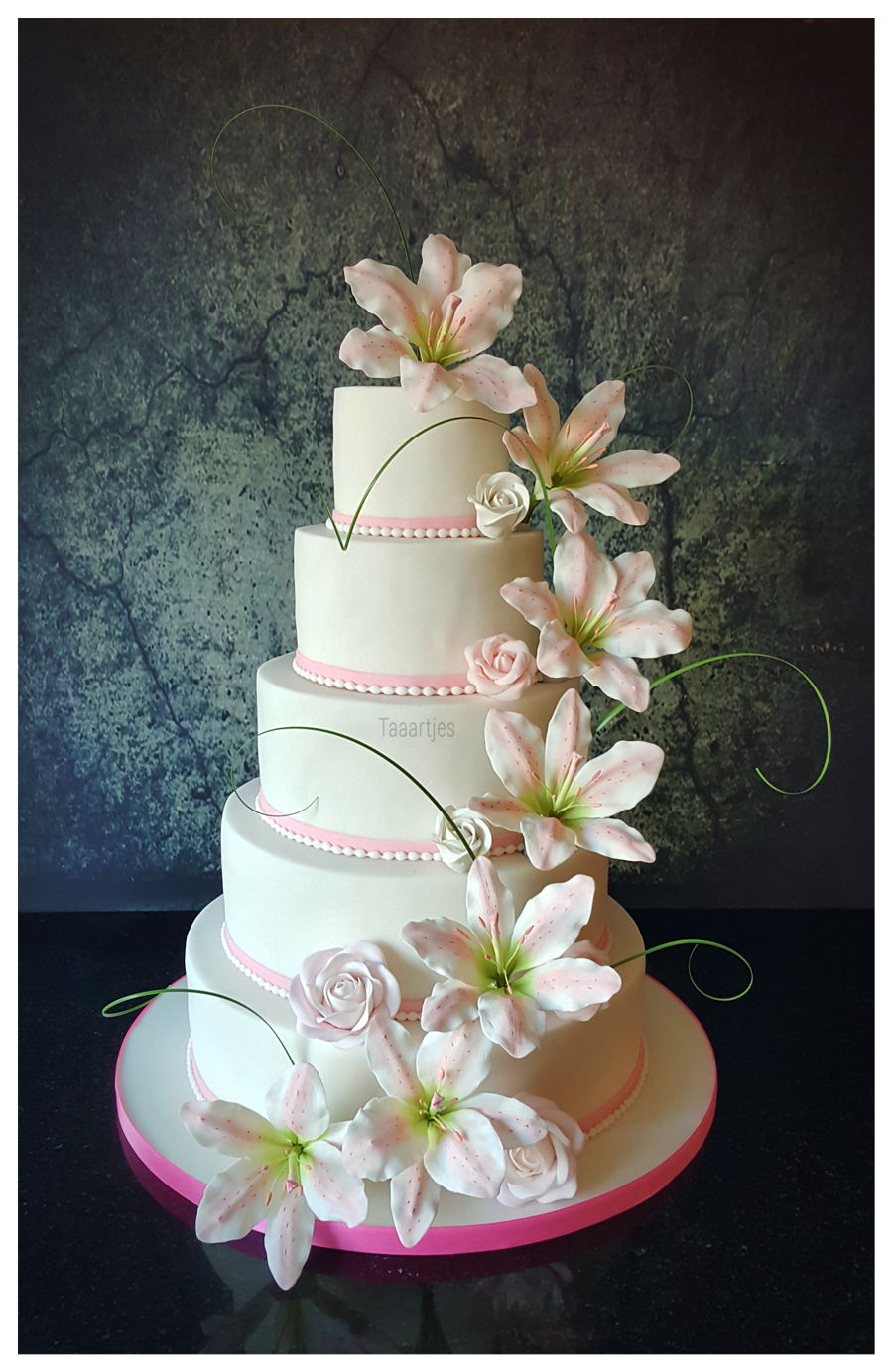 wedding cake lilies