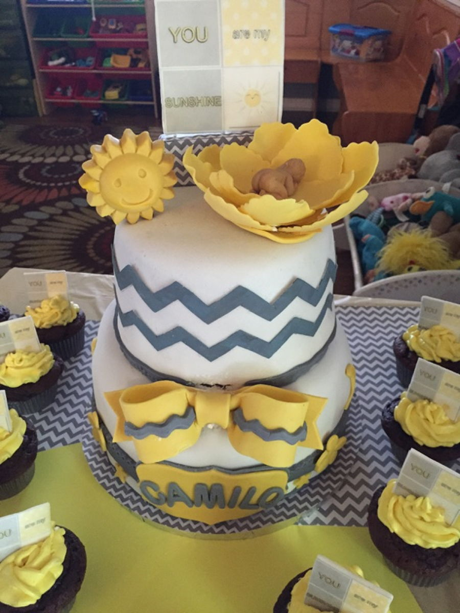 You Are My Sunshine Baby Shower Cake Cakecentralcom