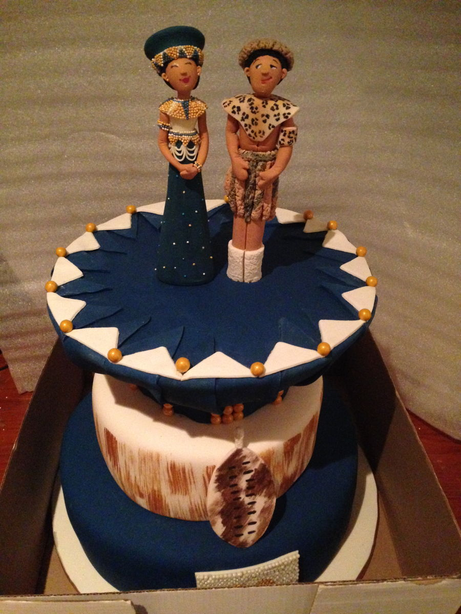 Zulu Themed Wedding Cake Cakecentral Com
