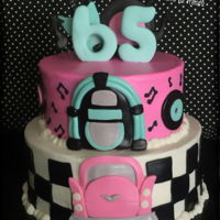 50's Themed Cake   50's cake