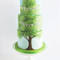 Arbor Day Cake  My daughter's school was chosen to host the Arbor Day celebration this year and I was asked to provide a cake. I watched a few Bob...