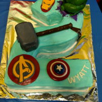 Avengers Birthday I'm obviously an amateur/hobbyist, but I had a lot of fun making this for one of my best friend's sons. :) All the kids fought...