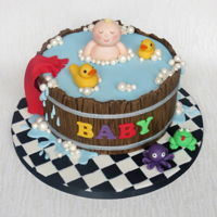 Baby Bath Cake Baby shower cake for a friend