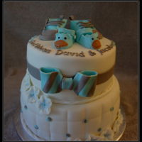 Baptism Cake cute baby shoes